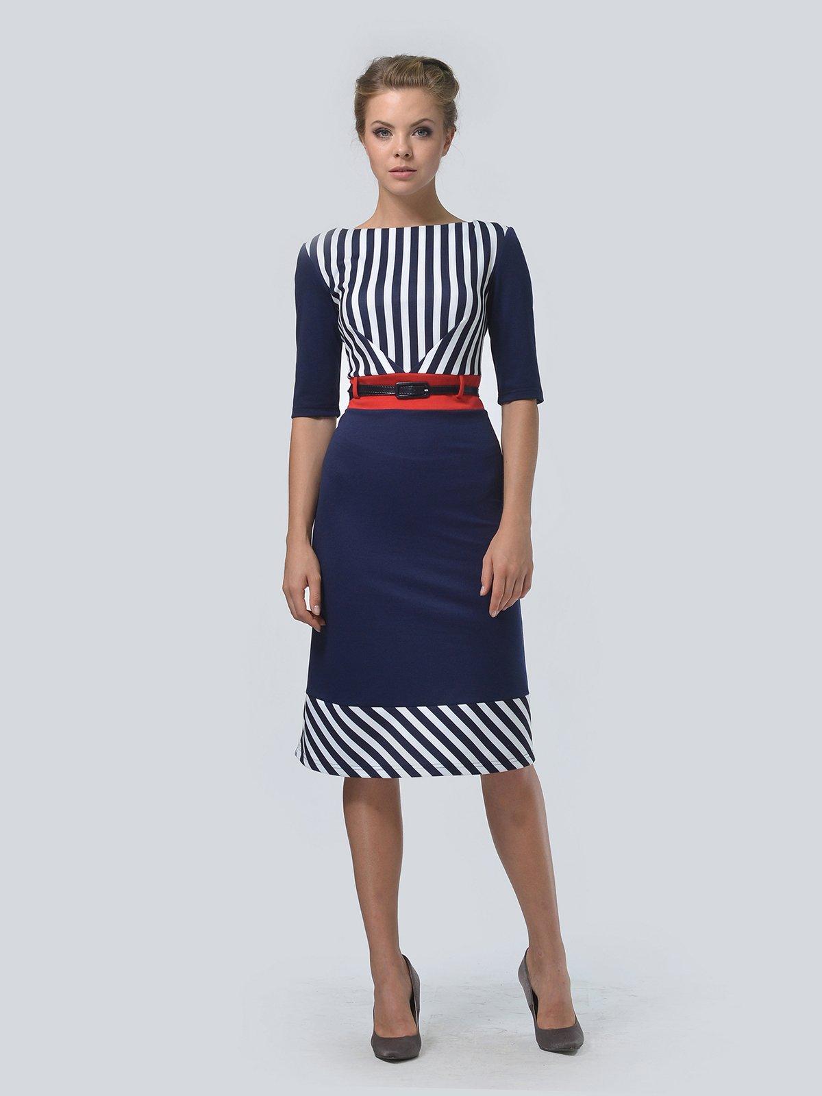 Сукня синя в смужку | 3505404