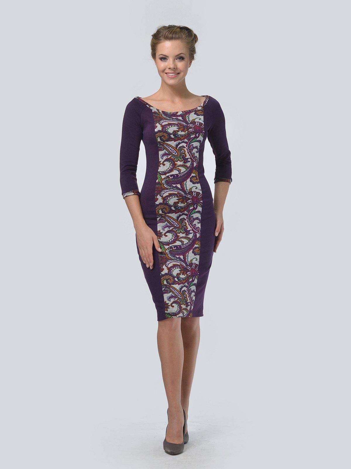 Платье фиолетовое в принт   3505472