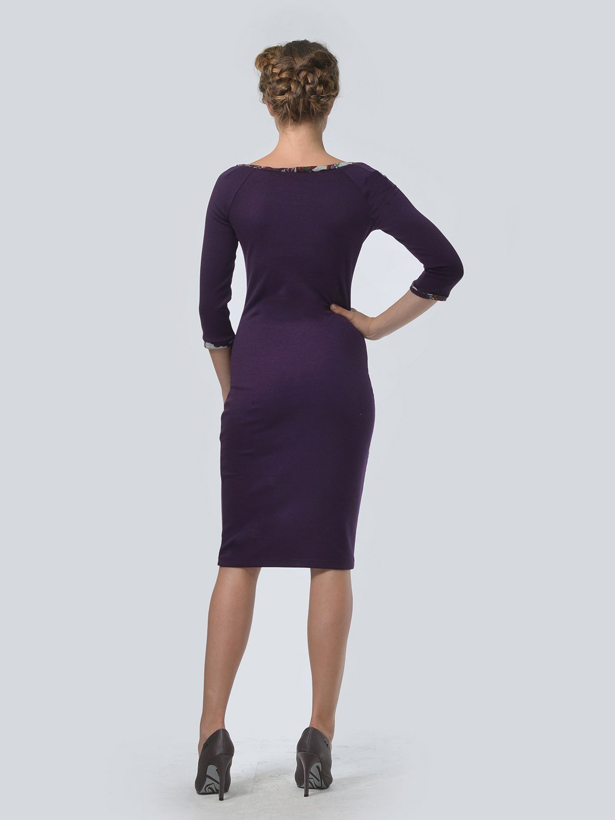 Платье фиолетовое в принт   3505472   фото 2