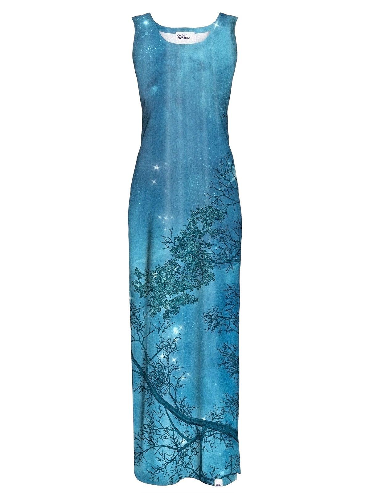 Сукня синя в принт | 3510361