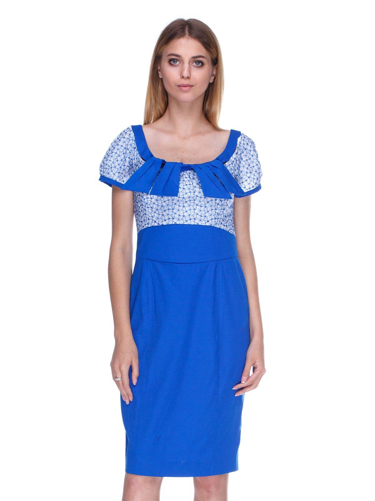 Платье синее в принт | 3369774