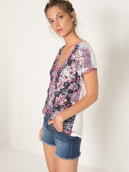 Блуза в квітковий принт | 3505075