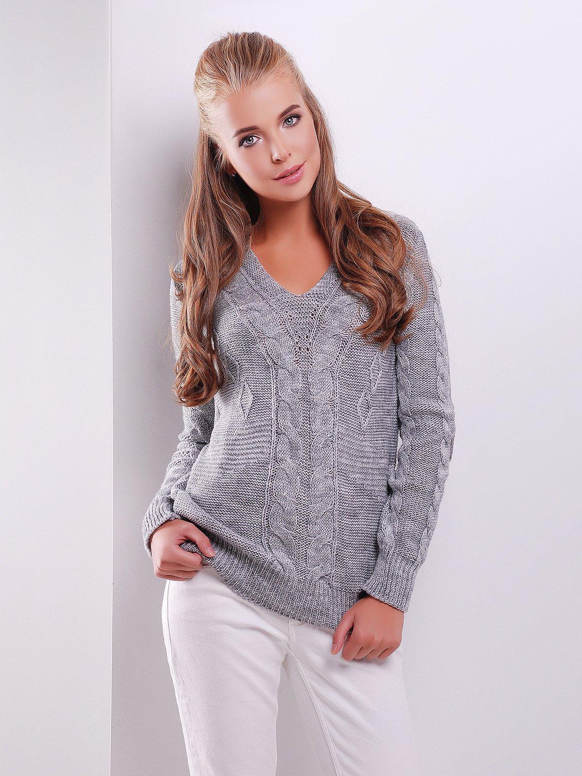 Пуловер темно-серый | 3522020