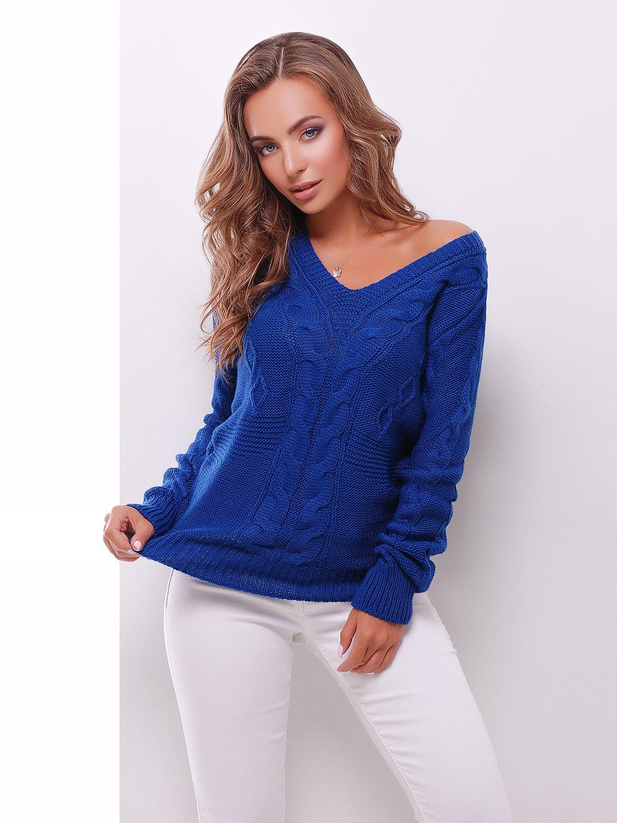 Пуловер цвета электрик | 3522026