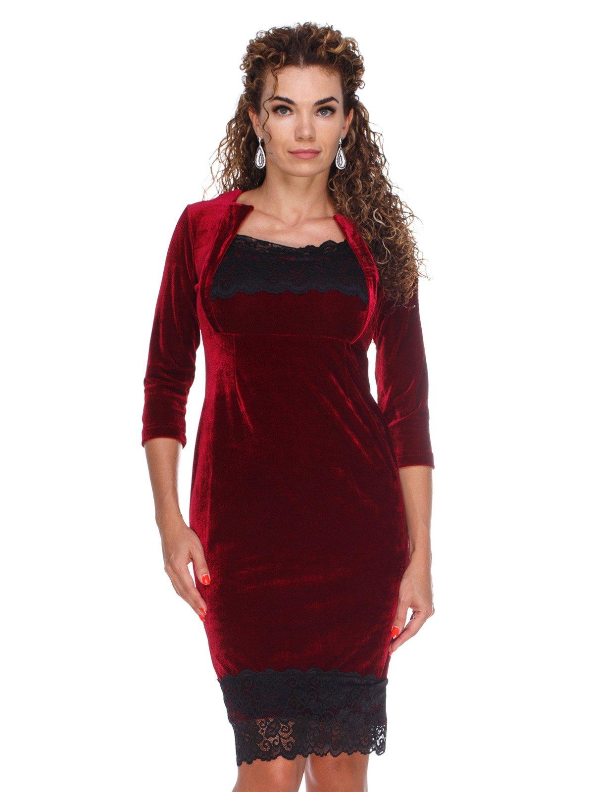 Сукня оксамитова червона | 3103641