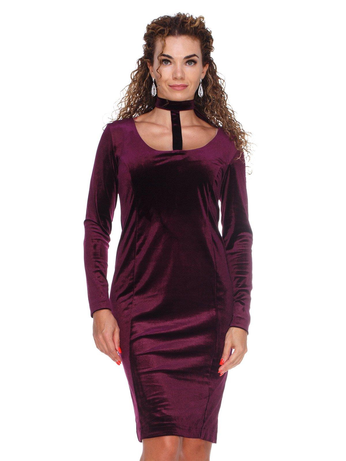 Сукня оксамитова фіолетова | 3130147