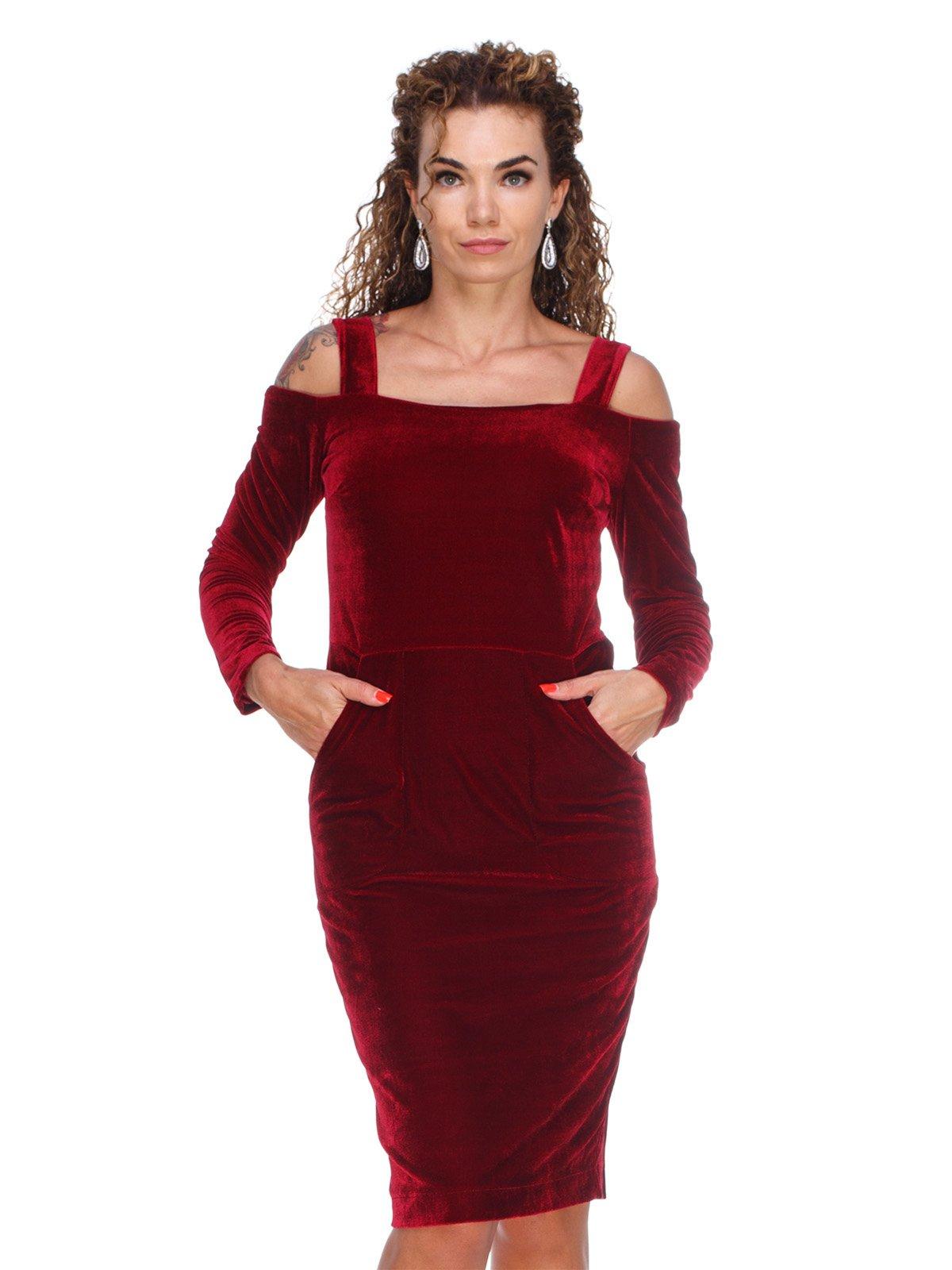 Сукня оксамитова червона | 3158670