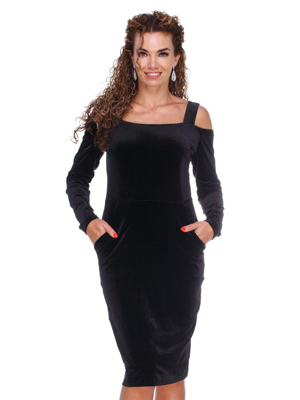 Сукня оксамитова чорна   3130157