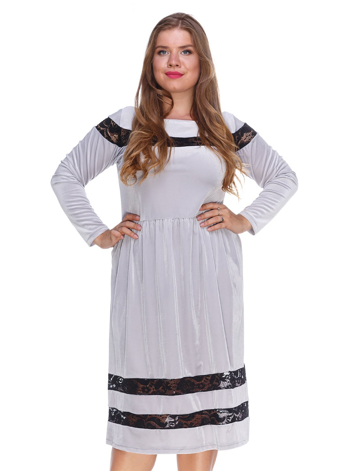 Сукня оксамитова сіра | 3202215