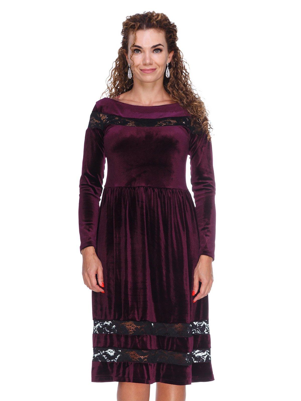 Сукня оксамитова фіолетова | 3202212