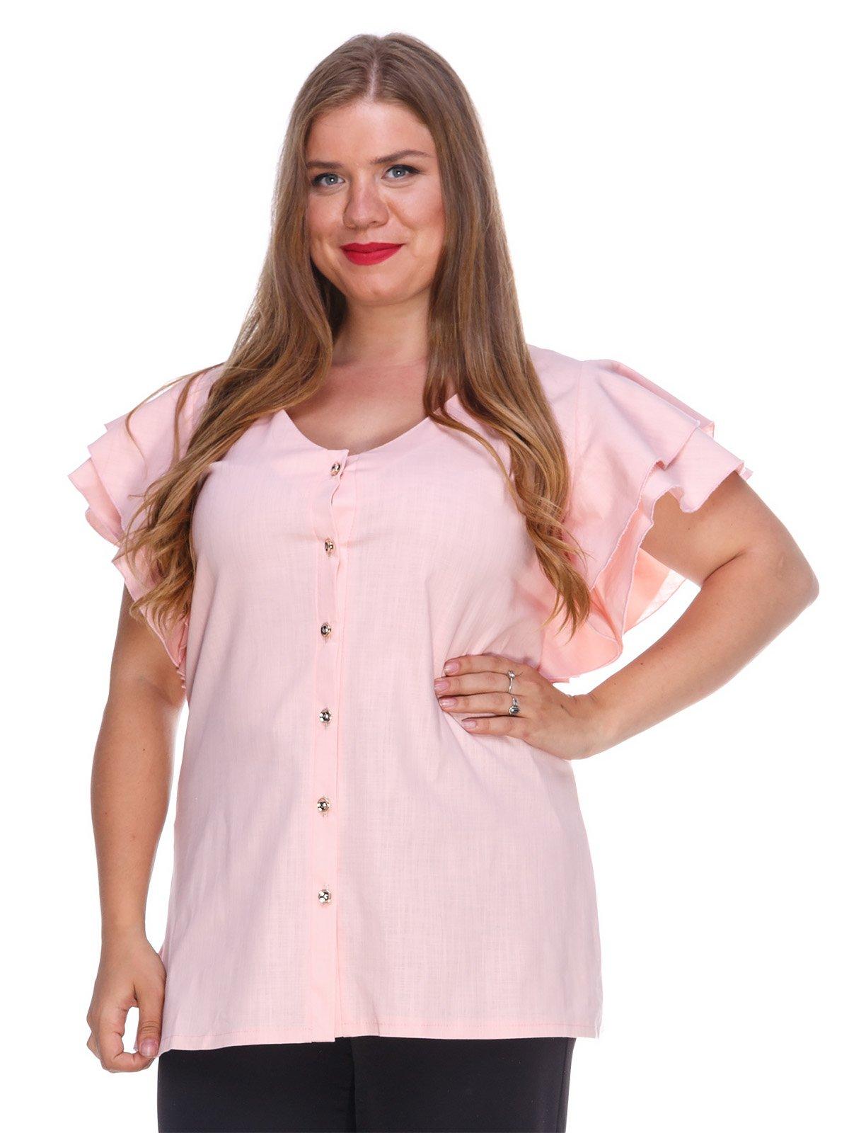 Блуза з льону персикового кольору | 3315335