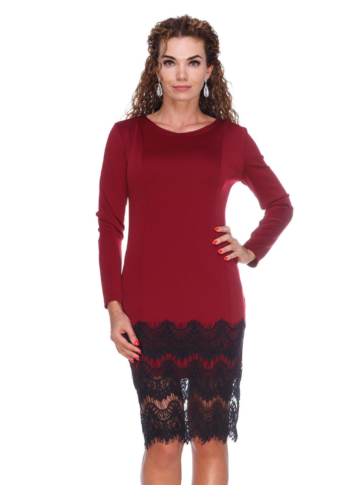 Платье с рельефами и дорогим кружевом | 3086334