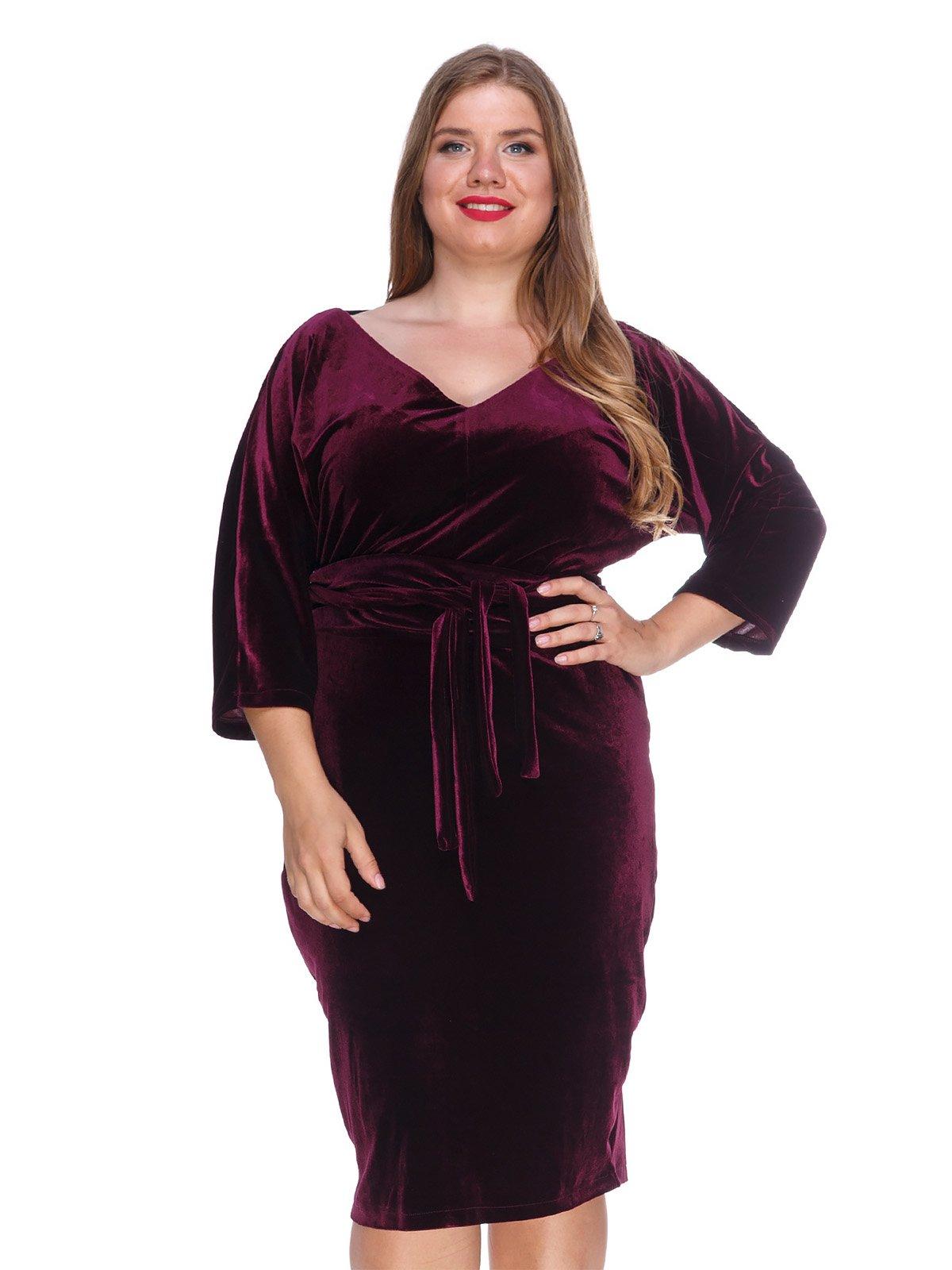 Сукня оксамитова фіолетова | 3207627