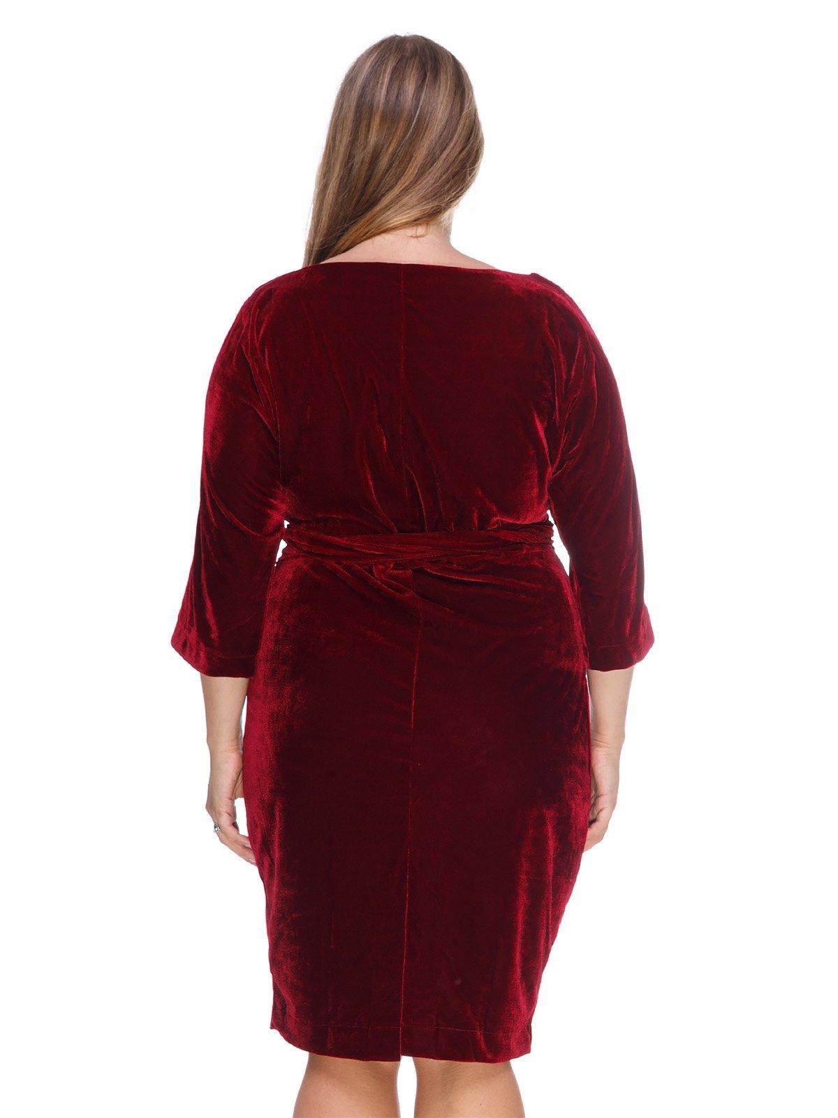 36857f2f7e4 Платье бархатное красное — Marc Vero Maxxi