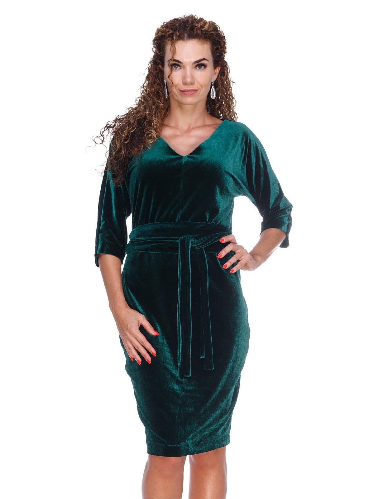 Сукня оксамитова смарагдова | 3103628