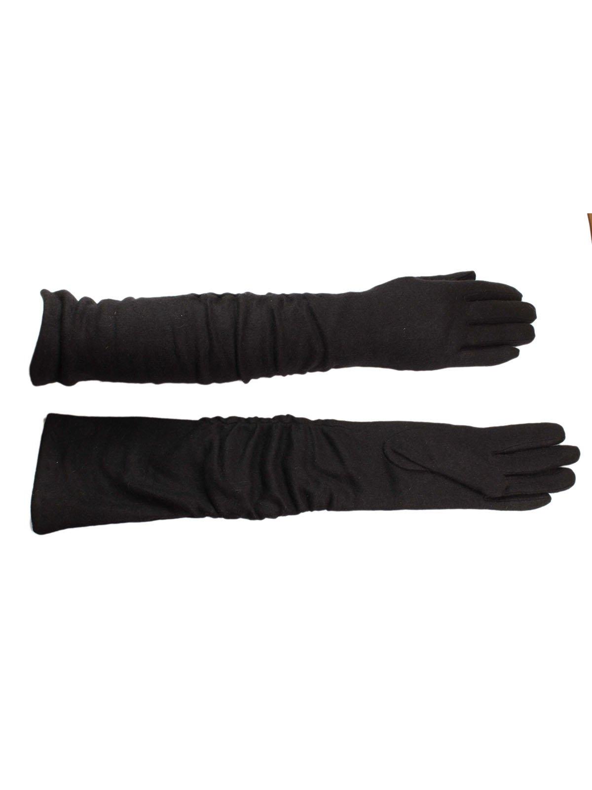 Перчатки черные кашемировые | 3529527