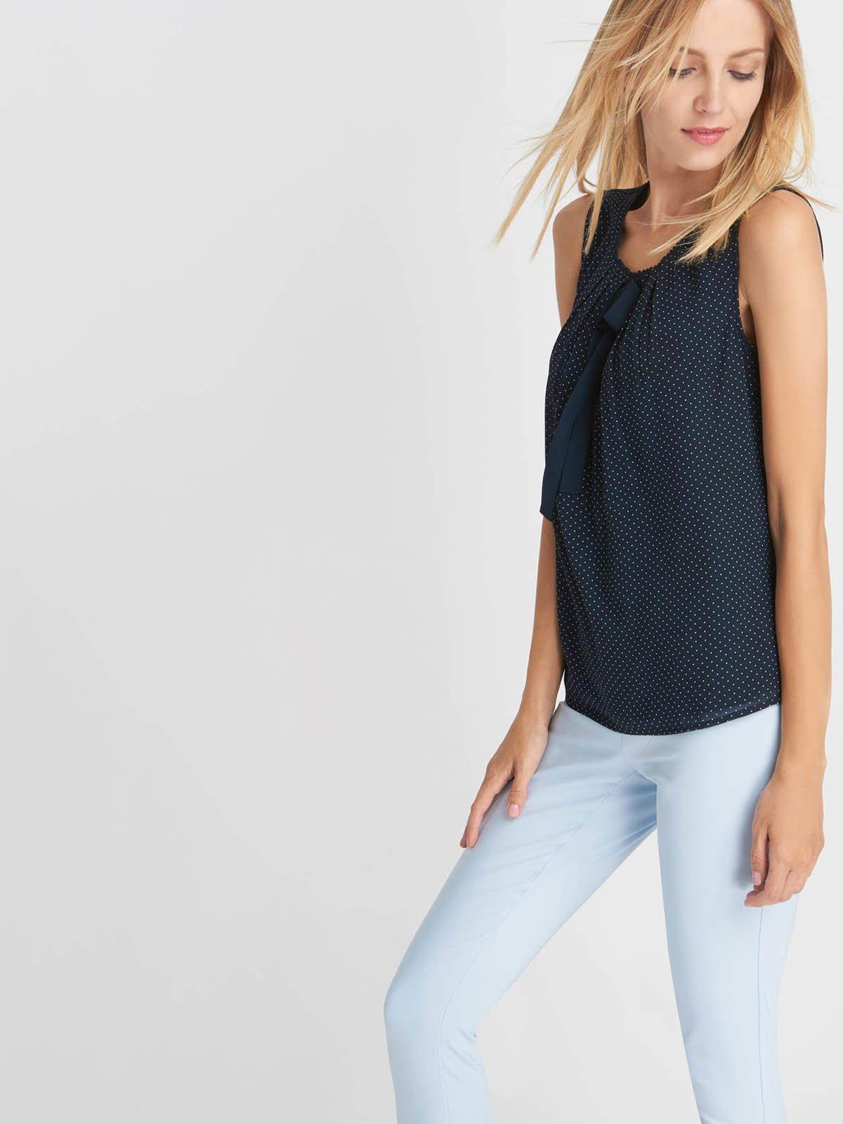 Блуза-топ синяя в крапинку   3495733