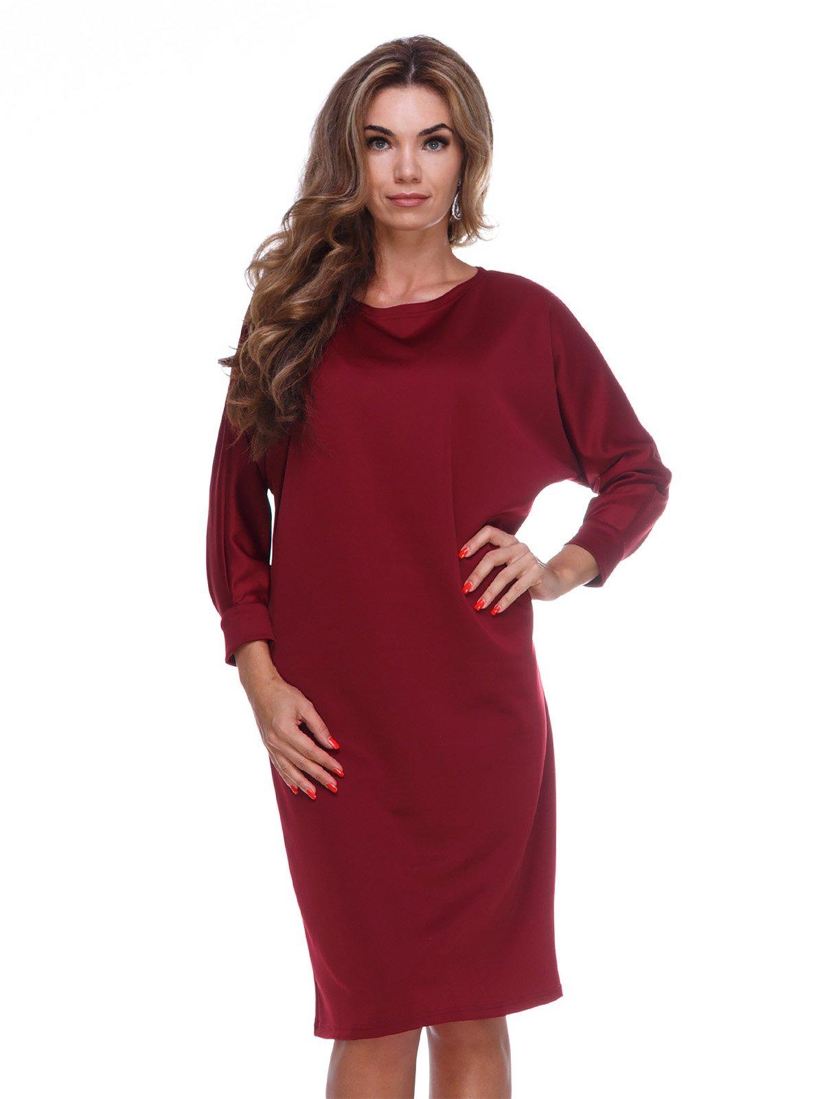 Сукня кольору марсала | 3086318