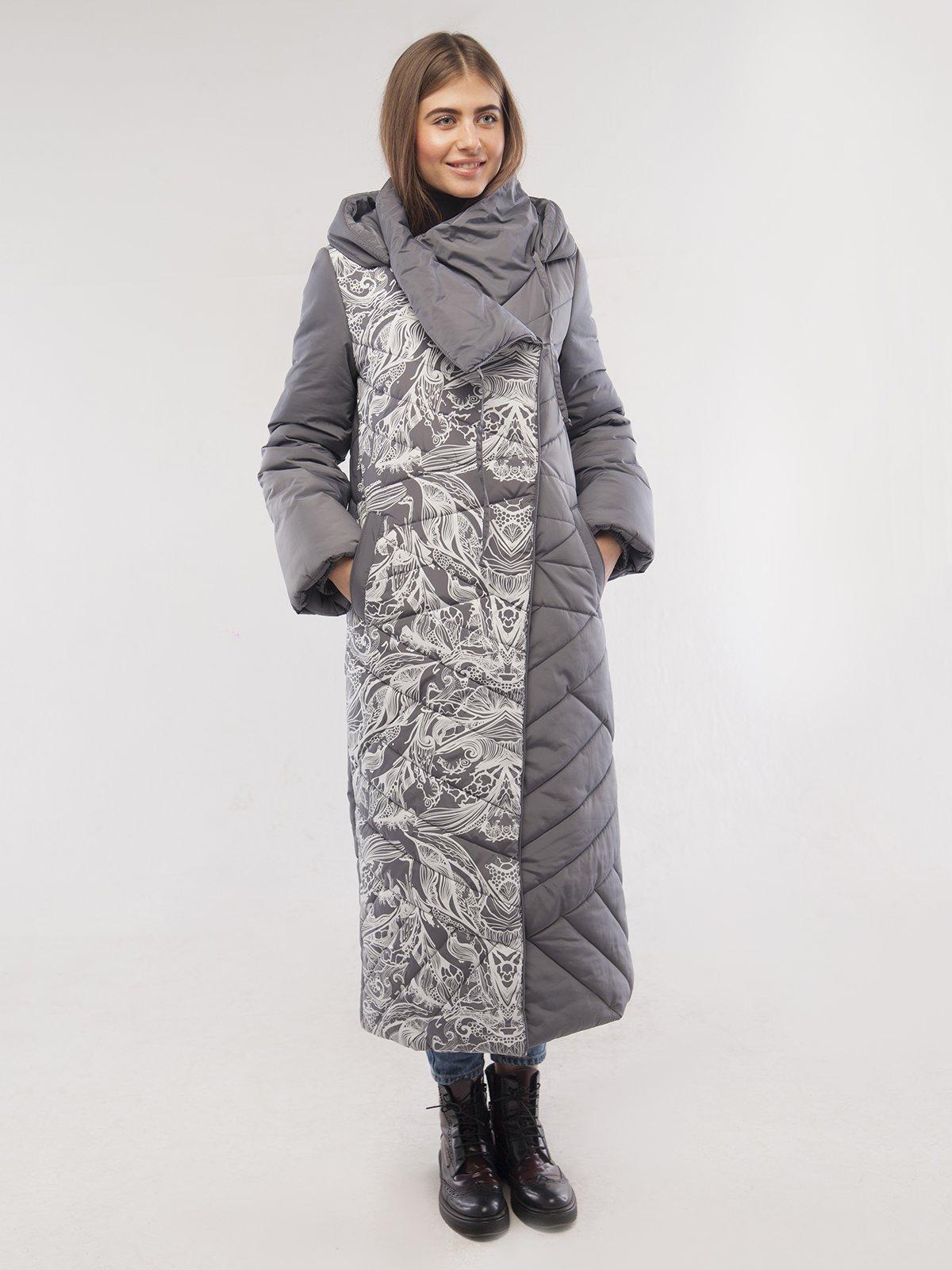 Пальто платинового цвета | 3485557