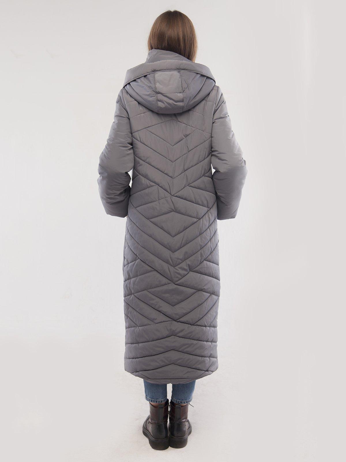 Пальто платинового цвета | 3485557 | фото 2