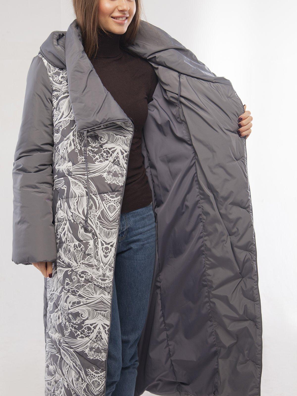 Пальто платинового цвета | 3485557 | фото 3