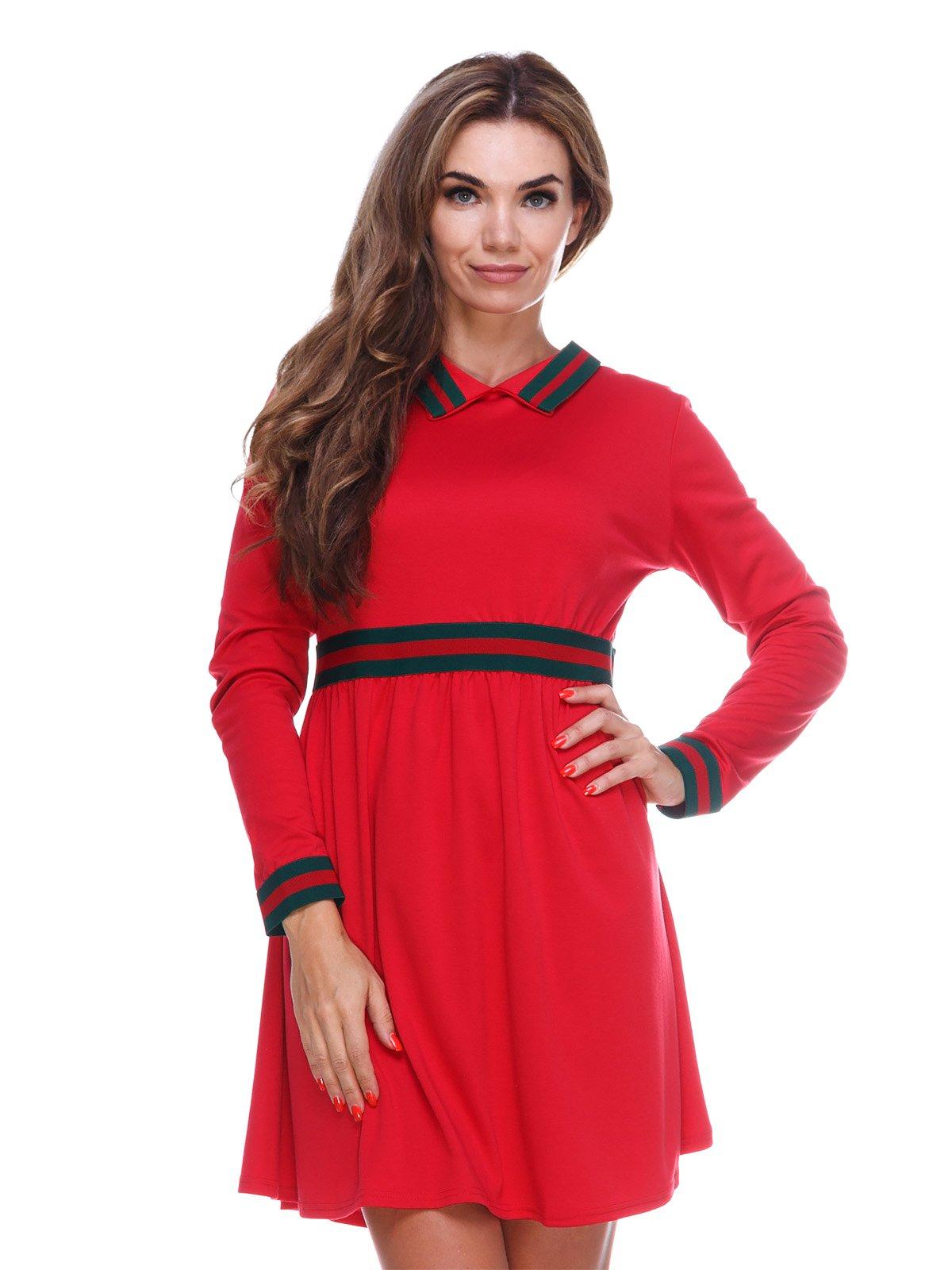 Однотонна зручна сукня із завищеною талією | 2763910
