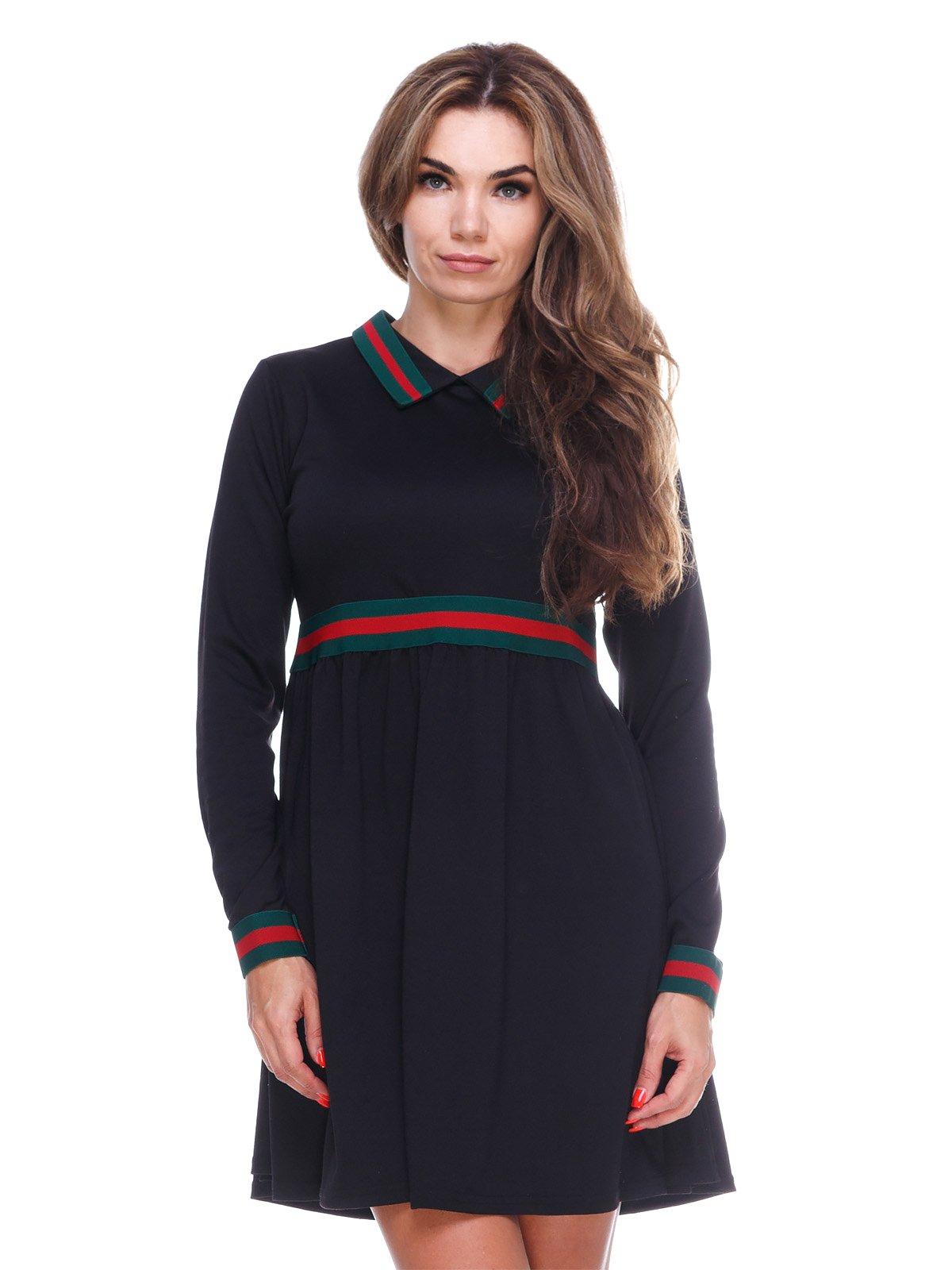 Однотонна зручна сукня із завищеною талією | 2763912