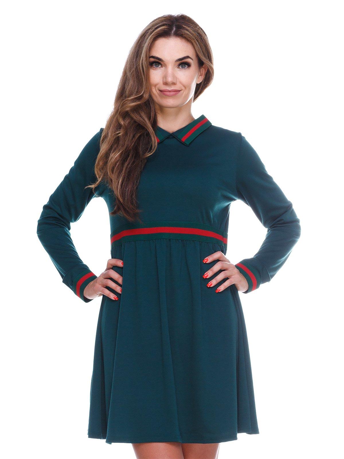 Однотонна зручна сукня із завищеною талією | 2763911