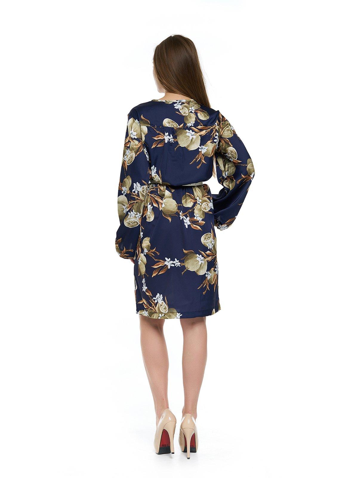 Платье темно-синее с принтом   3264132   фото 2