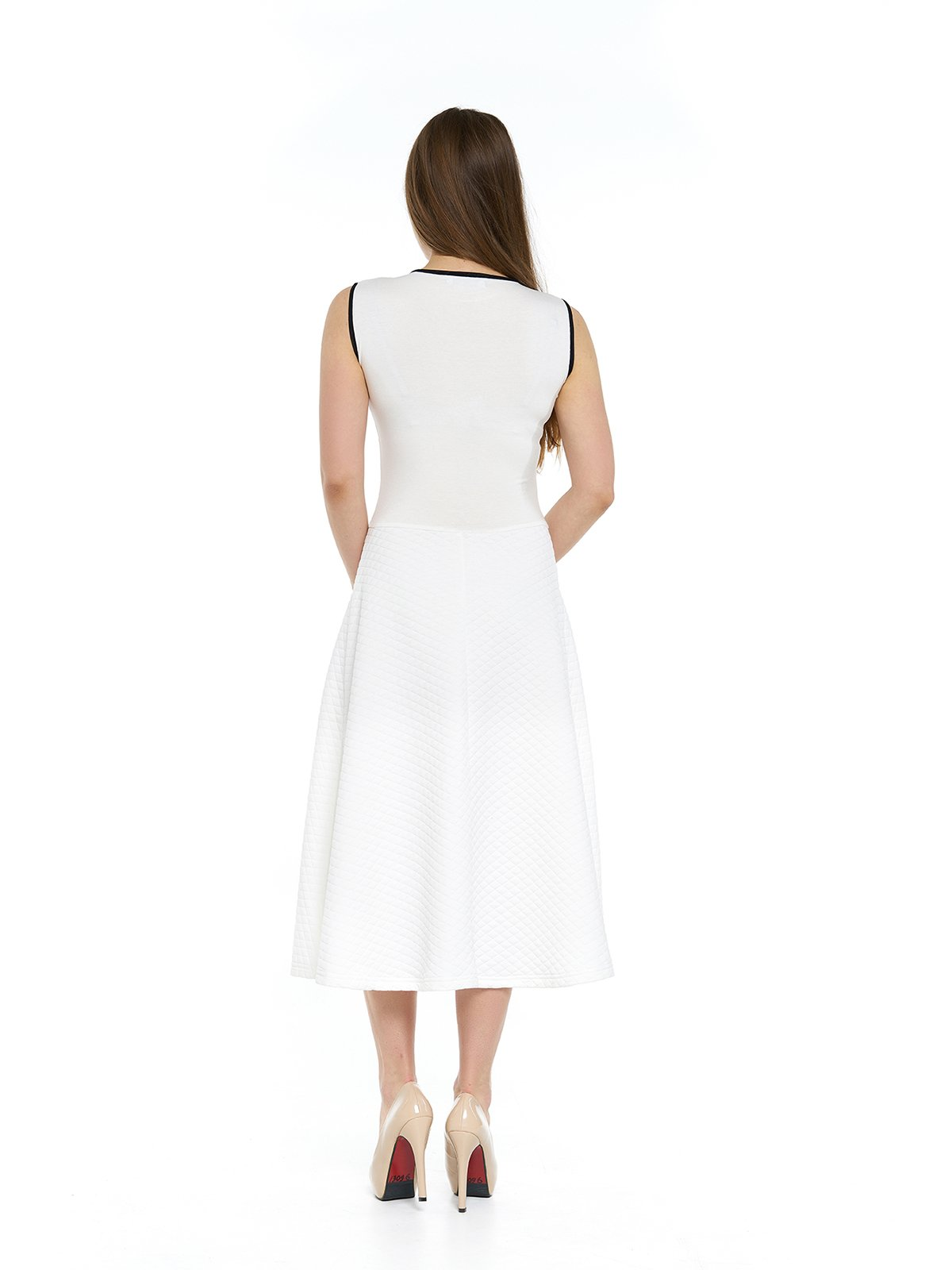 Платье молочного цвета с кружевом | 3264138 | фото 2