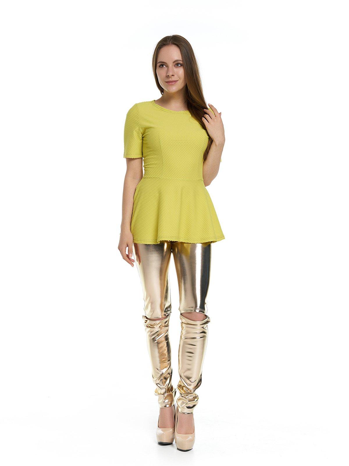 Блуза горчичного цвета   3279886