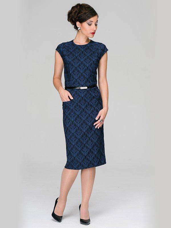 Платье синее | 3539379
