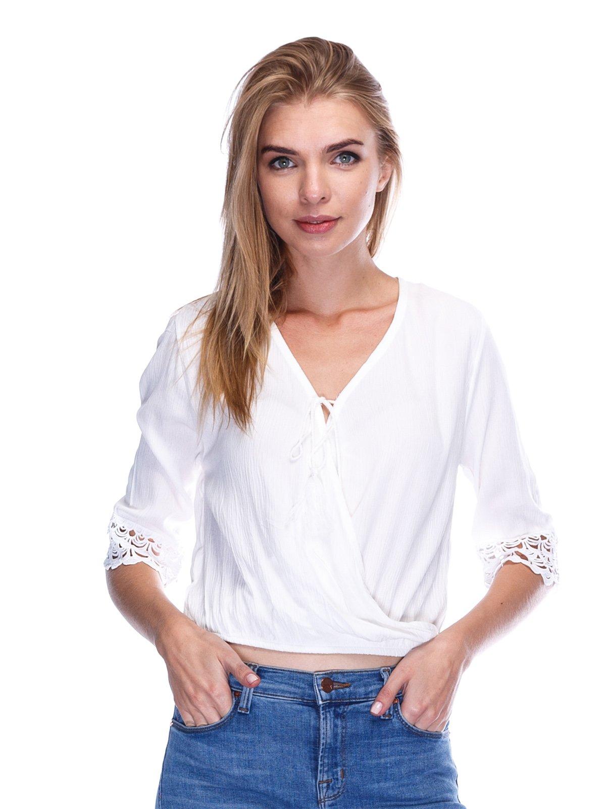 Блуза кольору екрю | 3477214