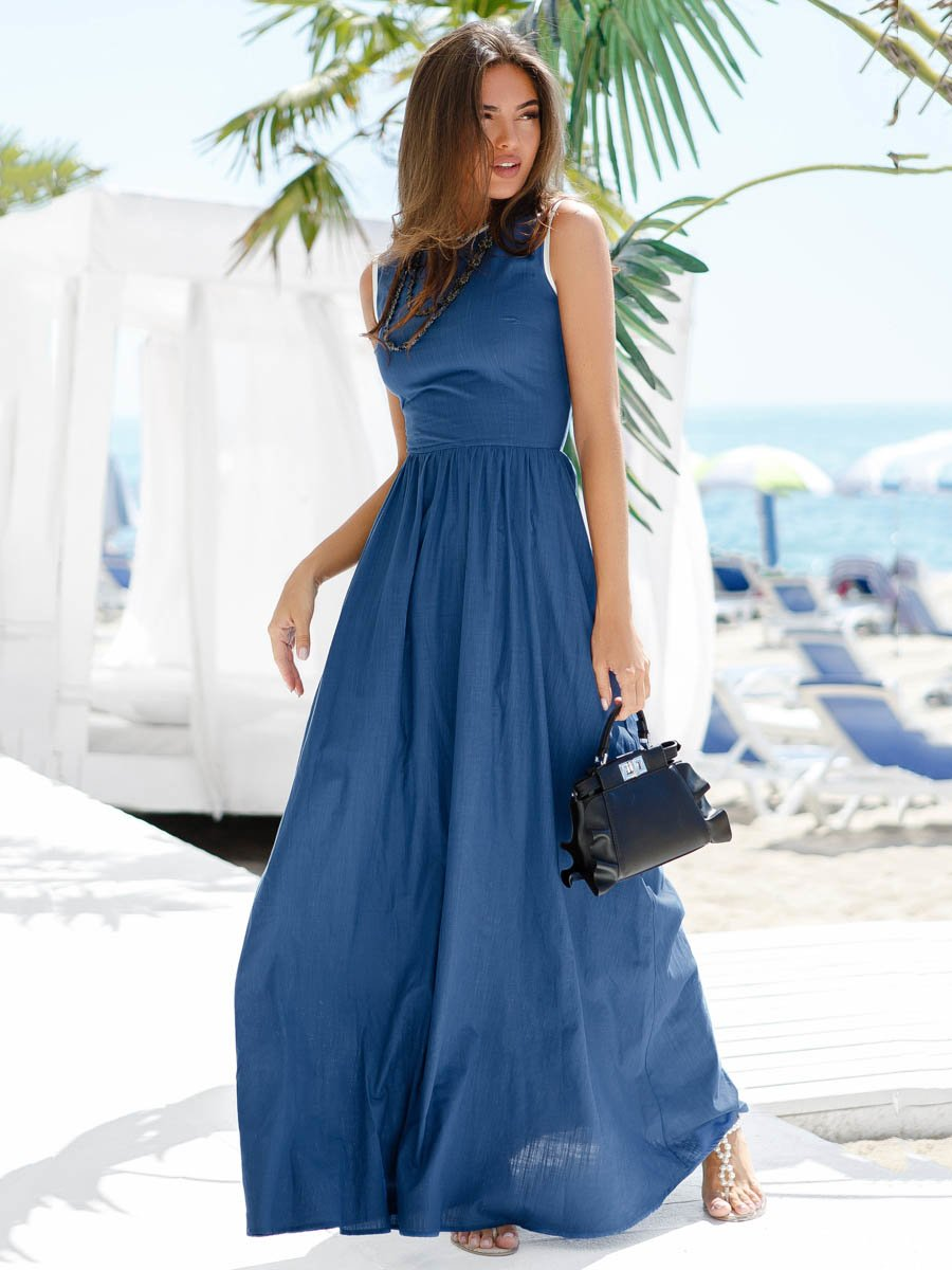 Платье синее | 3528912
