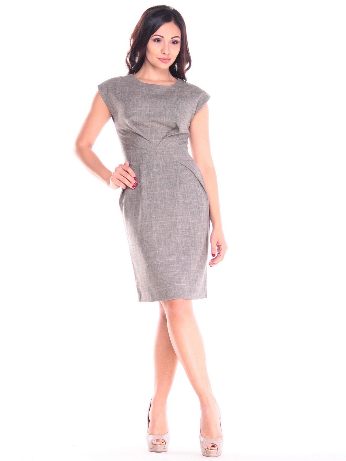 Платье цвета бежевый хаки | 3550057