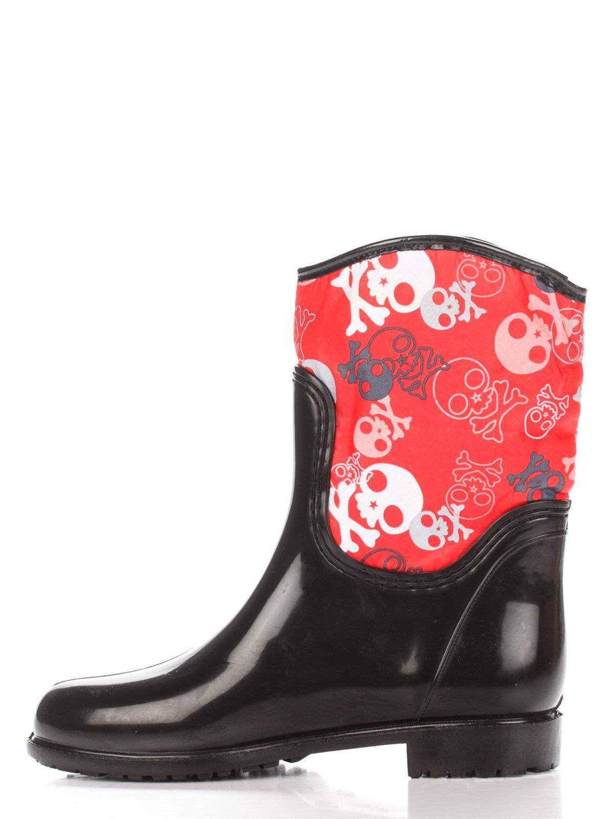 Сапоги черно-красные | 2096725 | фото 2