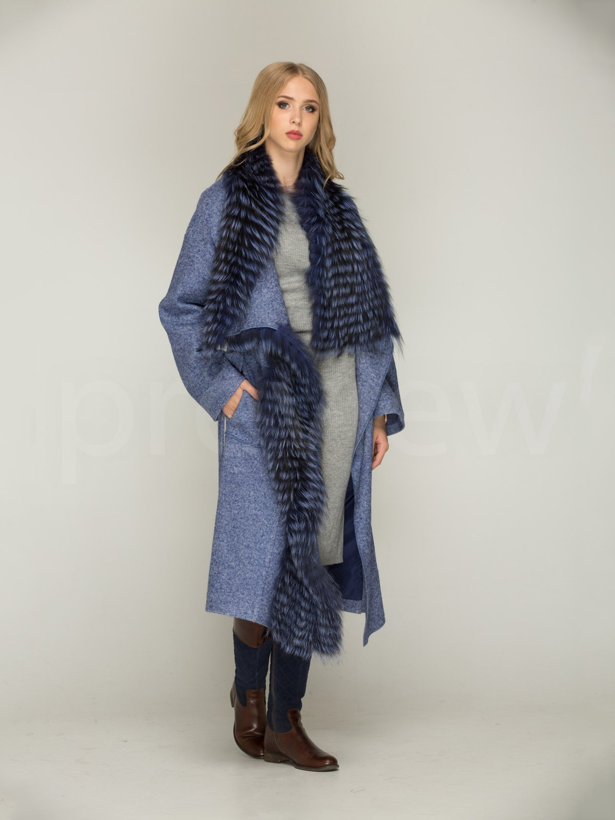Пальто синє | 3566467