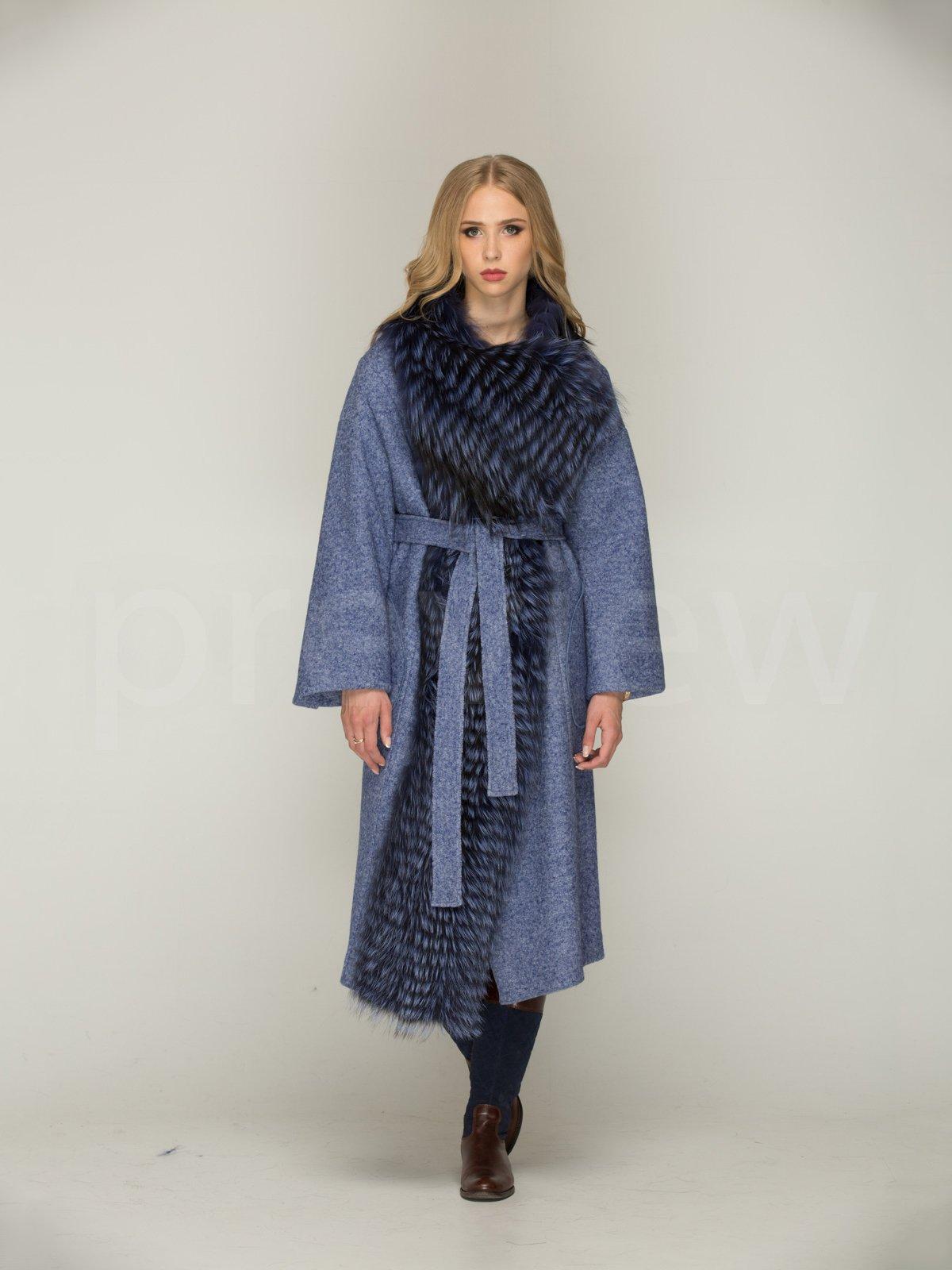 Пальто синє | 3566467 | фото 2