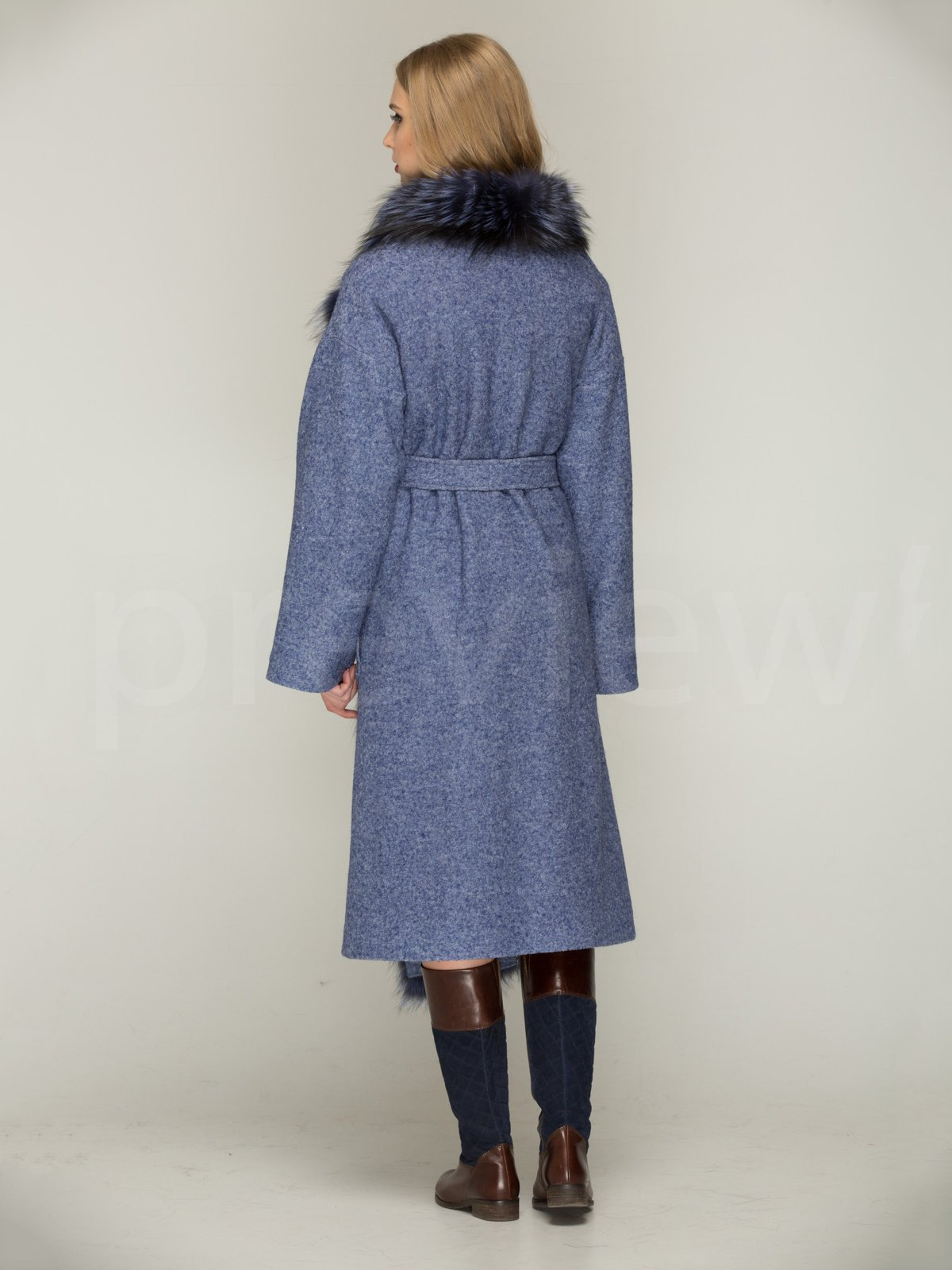 Пальто синє | 3566467 | фото 3