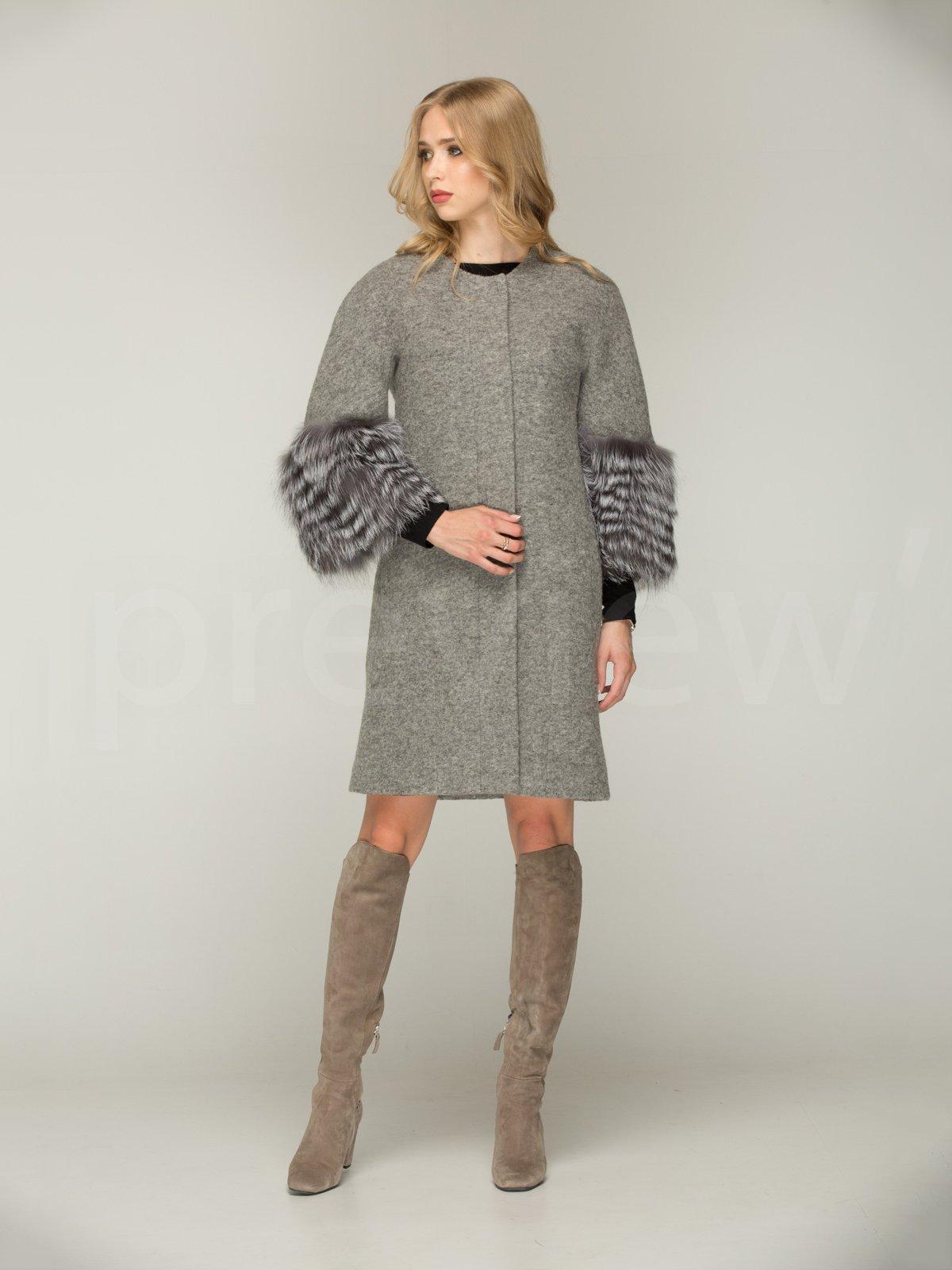 Пальто сіре | 3566470 | фото 2