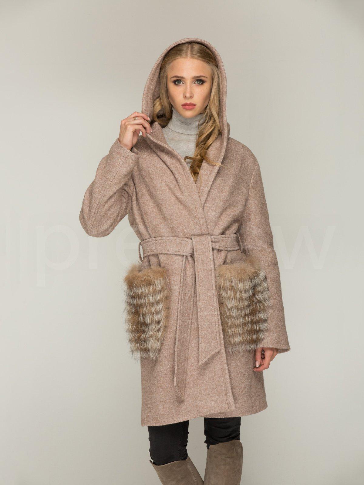Пальто кольору капучино | 3566472