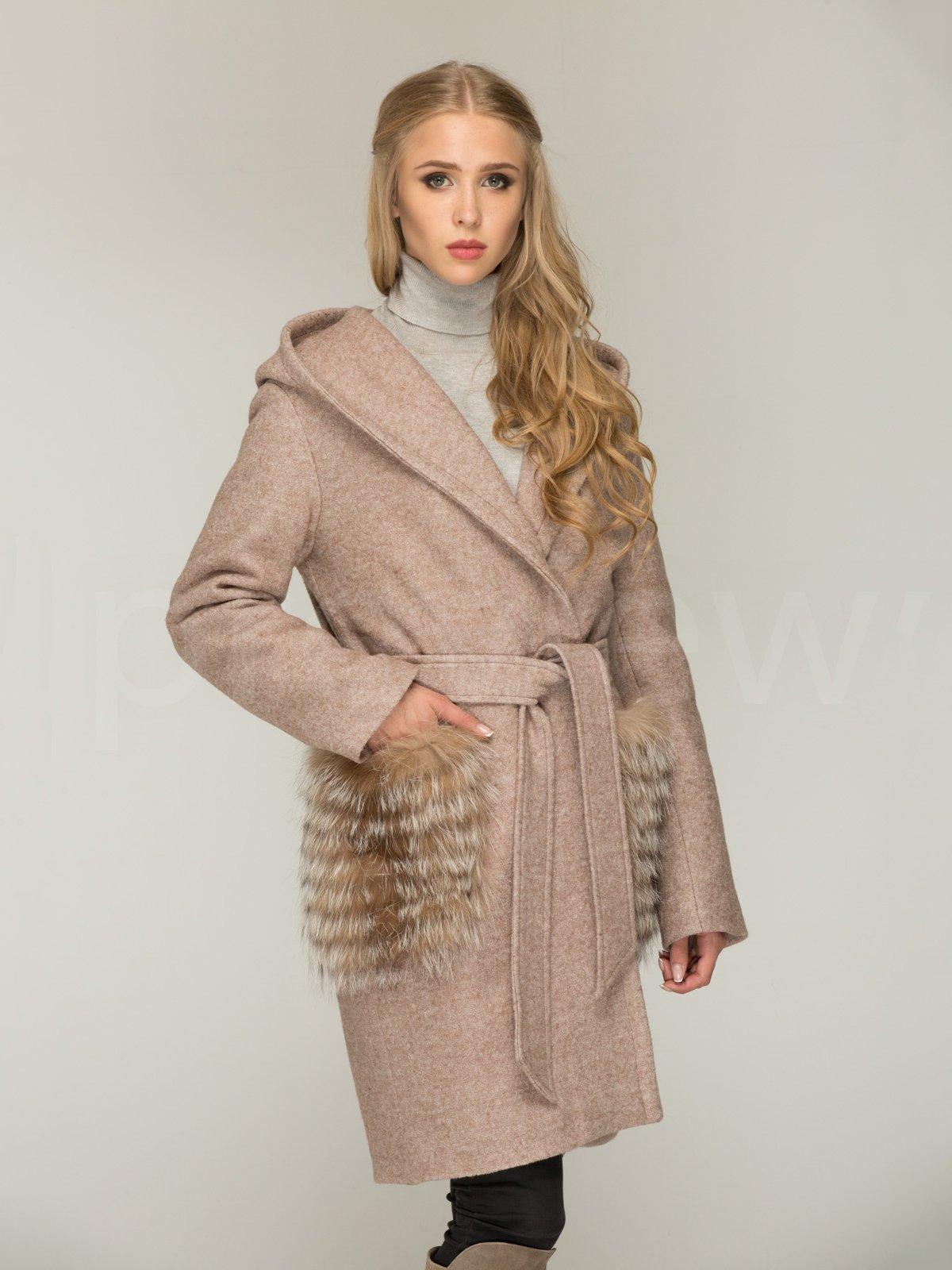Пальто кольору капучино | 3566472 | фото 2