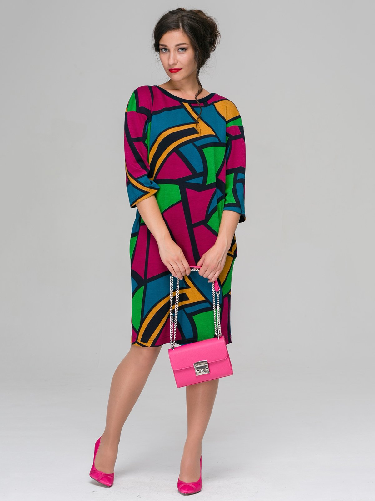 Платье абстрактной расцветки   3567924