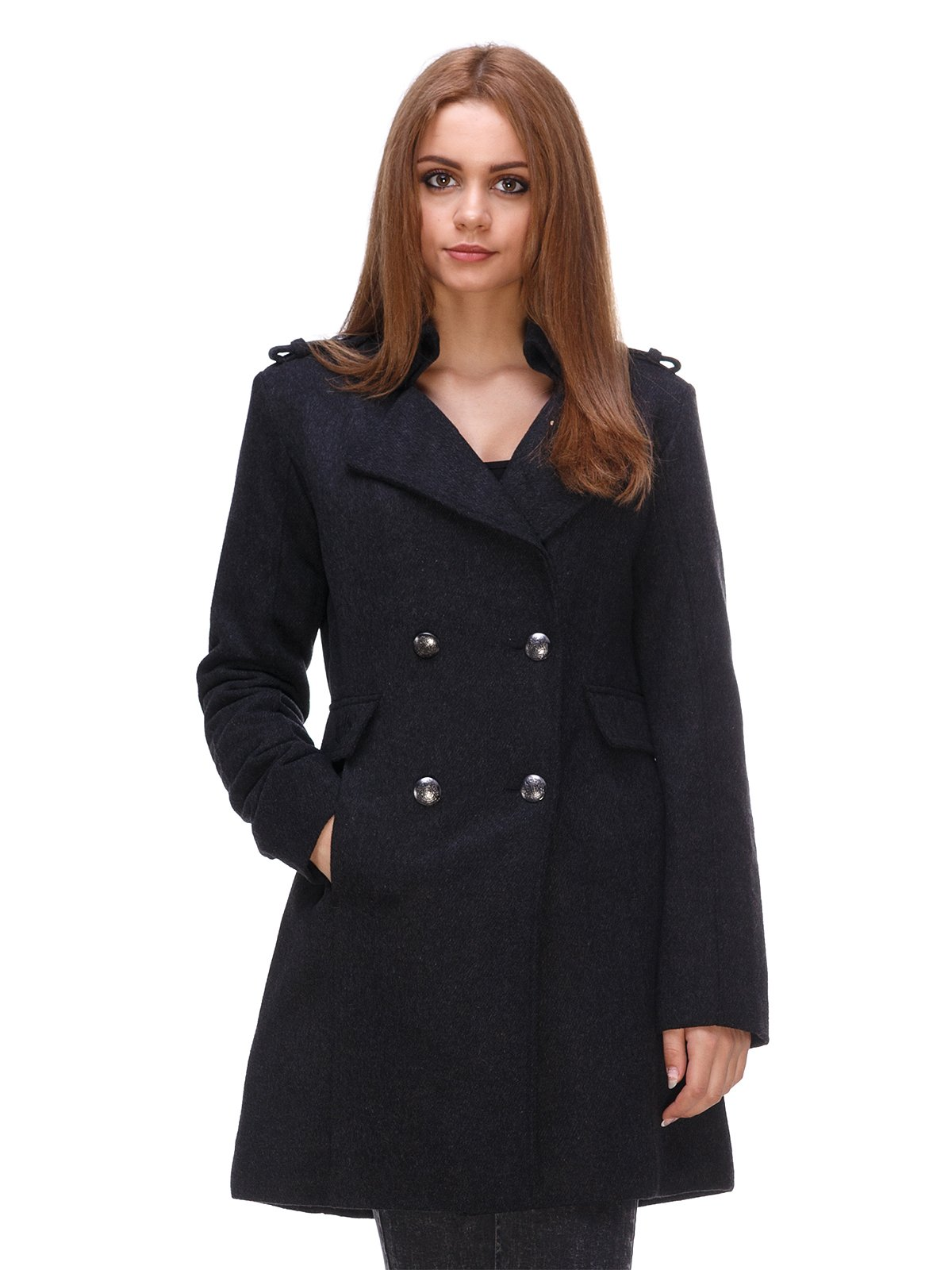 Пальто темно-сіре | 3557653