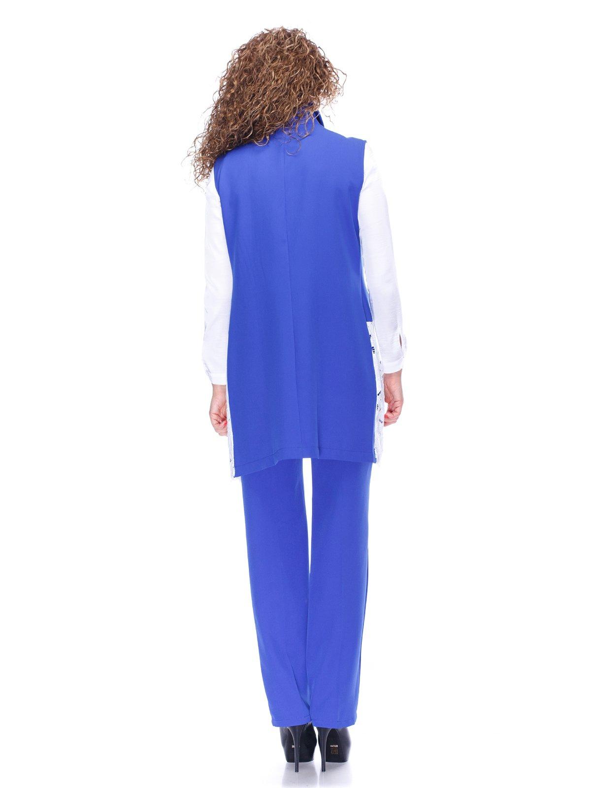 Костюм: жилет и брюки цвета электрик | 3544491 | фото 2