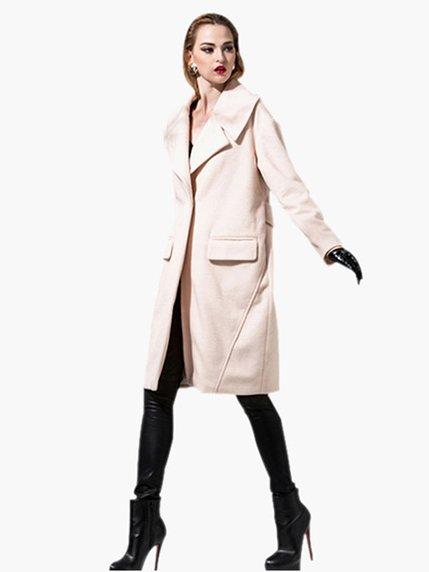 Пальто молочного цвета   3574195