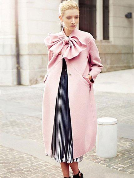 Пальто розовое   3574220