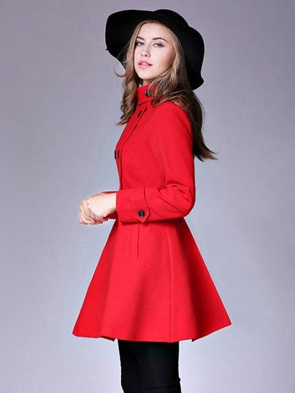 Пальто красное | 3574799 | фото 2