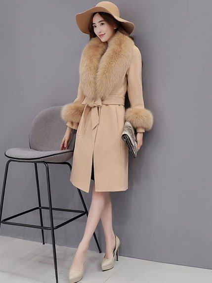Пальто цвета кэмел   3575792