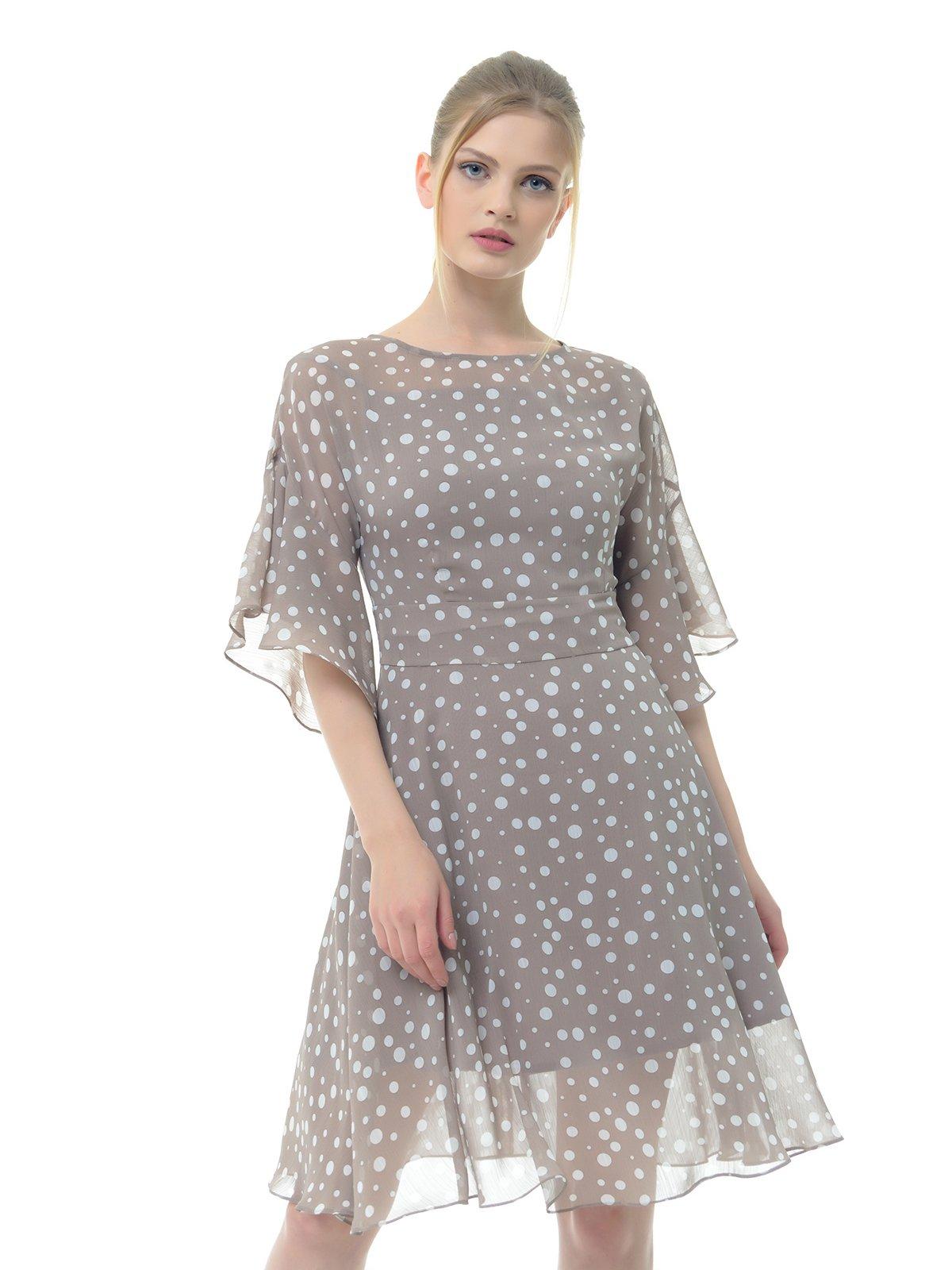 Платье серое в горошек   3573636